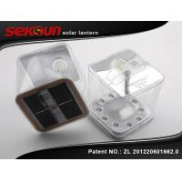 China Square Waterproof PVC Outdoor Inflatable Solar Lantern 5V / 0.65W on sale