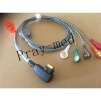 China 19 Pin Snap ECG Patient Cable 5 Lead DMS 300 System Holter Compatible Patient Safety on sale