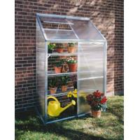 China Mini Polycarbonate Lean to Greenhouse , Galvanized Steel Garden Hobby Greenhouse Kits on sale