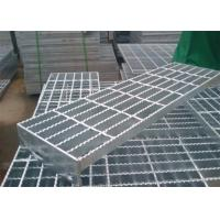 High Security Stainless Steel Bar Grating , Steel Open Mesh Flooring Non Slip Manufactures