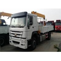 4200 Wheel Base 5 Ton Crane Truck, 6 Wheels Small Truck With Crane 140HP Engine Manufactures
