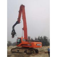 Low Vibration Excavator Mounted Sheet Pile Driver Short Working Period Manufactures