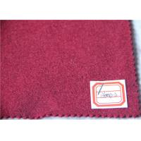 Quality Dark Red Wool Fabric In Stock 5 Cashmere , 60% Wool Suiting Fabric For Women Winter Skirts for sale