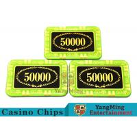 Anti - Counterfeiting Crystal Poker Chips / Rectangular Poker Chips For Casino Manufactures