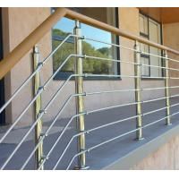 Exterior prefab railing stainless steel inox rod railing design for porch Manufactures