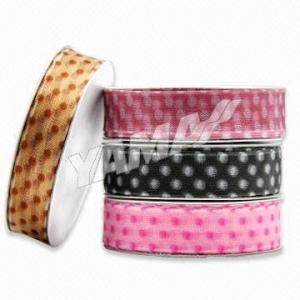 Swiss Dots Sheer Ribbon, Made of 100% Nylon Yard Manufactures