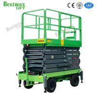 500Kg Loading Capacity Hydraulic Lift Platform 12m Height Mobile Scissor for sale