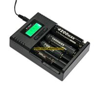 Quality Soshine H4 LCD Charger for Li-ion/NiMH/ LiIFePO4 battery 14500 18350 18650 26650 for sale