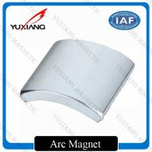 China Rare Earth N38 Neodymium Arc Magnets Sintererd NdFeB Durable For Motor on sale