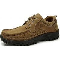 Men's Genuine Leather Lace Up Casual Flat Shoes Manufactures