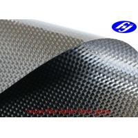 China Plain Carbon Artificial Leather Fabric / Corrosion Resistance Black Carbon Fiber Fabric on sale
