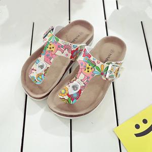 Comfortable Kids Sandals Flip Flops Anti Slip Sole Sandals With Adjustable Straps Manufactures