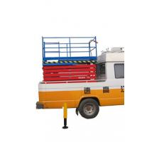 2.2Kw Manganese Steel Truck Mounted Scissor Lift with Four Wheel , 11 m Manufactures