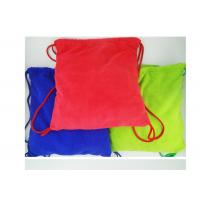 Multi purpose Microfiber Drawstring Beach Towel Bag , Colorful Folding Beach Towel Bag Manufactures