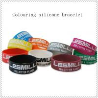 1 Inch Sport Customized Silicone Bracelets , Personalized Silicone Bracelet Manufactures