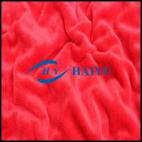 China Red Plain Velboa Fur Fabric Heating Thermal Lining Fabric 150-500 G Weight on sale