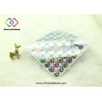 20mm Round Shape Disposable Holographic Sticker Paper With Custom Logo Manufactures