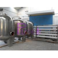 Industrial 20T Single Level Ro Machine With Stainless Steel Water Storage Tanks Manufactures