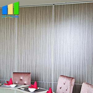 China Wooden 65MM Sliding Partition Walls Melamine Finish Multi Color on sale