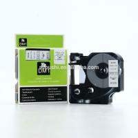 China 12mm black on white compatible dymo D1 tape 45013 for DYMO labelManeger label printer on sale