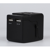 China 100-240 Vac Voltage Universal Travel Adapter With Usb Port on sale