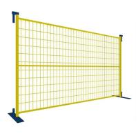 6'*9.5' PVC Coated Portable Fence Panels , Temporary Construction Fence Security Manufactures