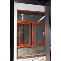 Red Brown Floor Large Glass Window With Aluminium Frame Horizontal Open Manufactures