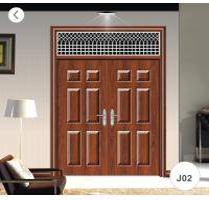 J02 Zinc Alloy Steel Twin Doors / Residential Steel Security Doors Manufactures