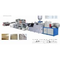 China PE Wood Plastic Sheet Production Line on sale