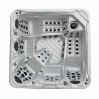Whirlpool Bathtub with 1,491L Water Capacity, 3 Massage Pumps and 3 Lounge Seat Manufactures