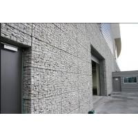 Silver Wire Gabion Baskets , Gabion Wall Cages For Rock Retaining Walls Manufactures