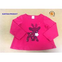 Customized Children T Shirt 100% Cotton Long Sleeve Baby Girl Tee Shirts Manufactures