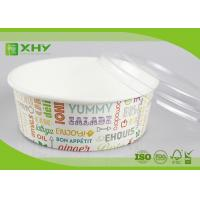 No Leak 1000ML Paper Salad Bowls Food Grade FDA & FSC & BRC & ISO Certification Manufactures