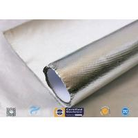 Heat Reflect Aluminium Foil Silver Coated Fabric For Industry 0.85mm Thickness Manufactures