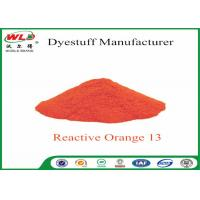 Textile Synthetic Fiber Reactive Dye C I Reactive Orange 13 100% Purity Manufactures