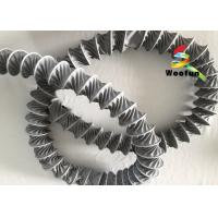 Dehumidification Gray Flame Retardant Flexible Duct PVC With Helix Steel Wire Manufactures