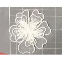 China Garment Accessories Embroidery Organza Applique Flower  with Sequin on sale