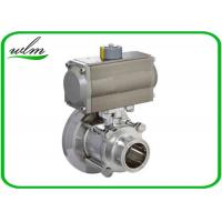 Hygienic Weld Clamp Flange Thread Tank Bottom Ball Valve With Aluminum Pneumatic Actuator Manufactures