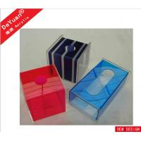 Fluorescence Green Car Acrylic Holder Stand , Acrylic Tissue Box 5MM Manufactures