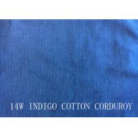 14W INDIGO COTTON CORDUROY FOR PANTS LIKE DEMIN FABRIC Manufactures