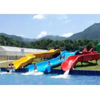 Commercial Above Ground Pool Slide Fiberglass Aqua Funny Equipment Manufactures