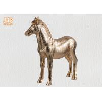 Decorative Gold Leaf Polyresin Animal Figurines Horse Sculpture Table Statue Manufactures