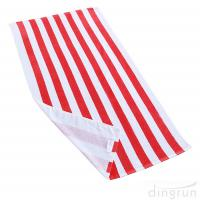 Soft Absorbent and Plush 100% Cotton Cabana Striped Beach Pool Bath Towel Manufactures