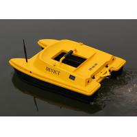 Yellow rc fishing bait boat remote frequency 2 4g two for Rc fishing boats for sale