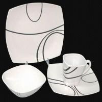 Plate/Dish Set, Made of Melamine, Customized Colors, Designs and Sizes Welcomed, Sized 25 x 16cm Manufactures