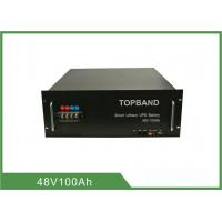 2000 Times Cycle - Life Lithium Ion Battery For Telecom Application , No Explosion TB48100F-T105A