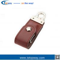 China Portable 16gb black leather usb flash drive for gifts and promotion memory card on sale