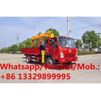 Dayun 4*2 LHD 6.3tons telescopic crane boom mounted on truck for sale, HOT SALE! best price 6.3T cargo truck with crane Manufactures