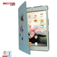 fashion print PU leather flip cover skin pouch smart stand for ipad 5, slim compact fit , Manufactures