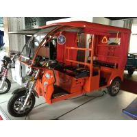60V 1000W Electric Open Passenger Motor Tricycle With Fiber Roof Manufactures